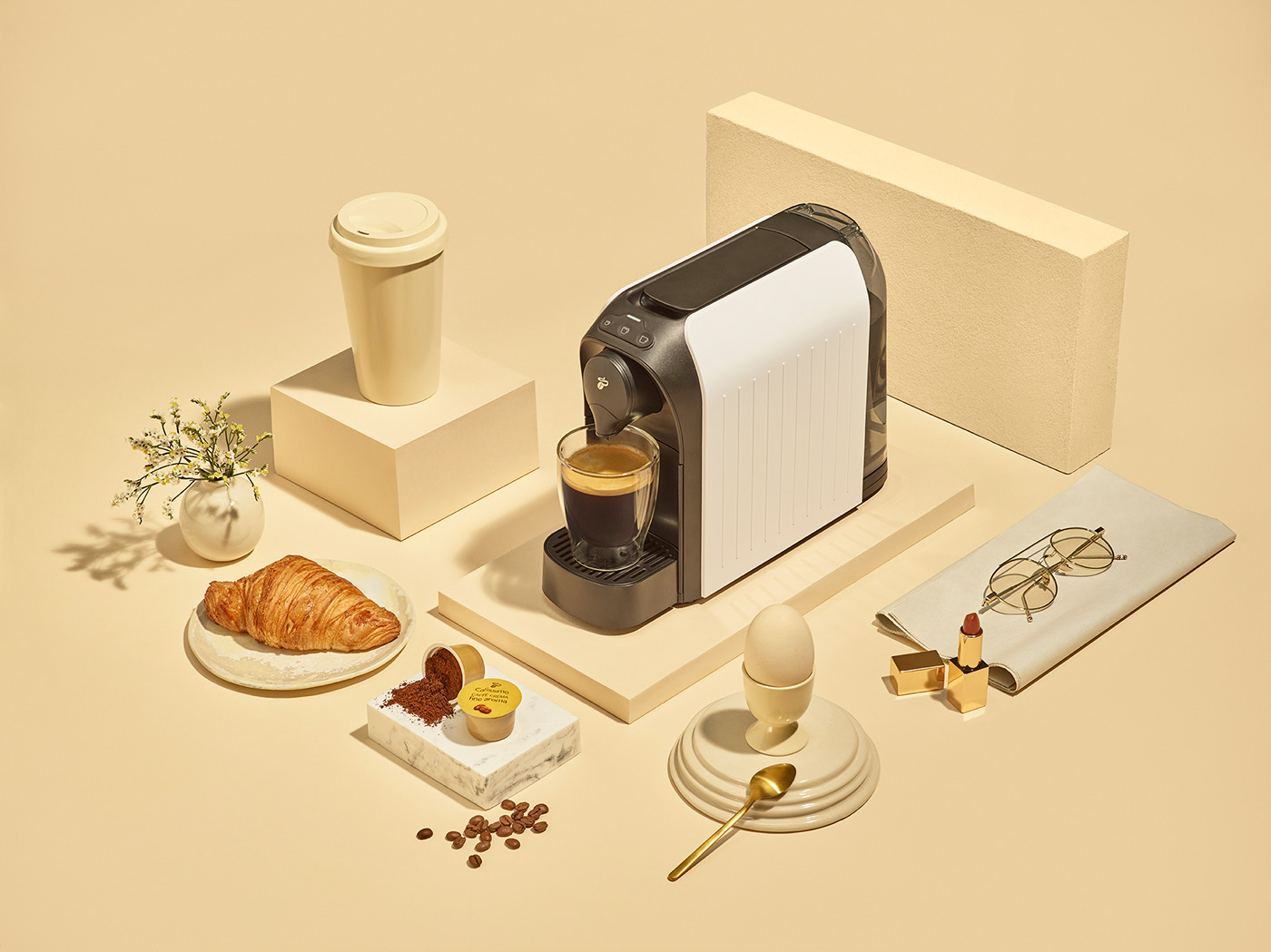 Still life with Tchibo Easy Coffee Maker