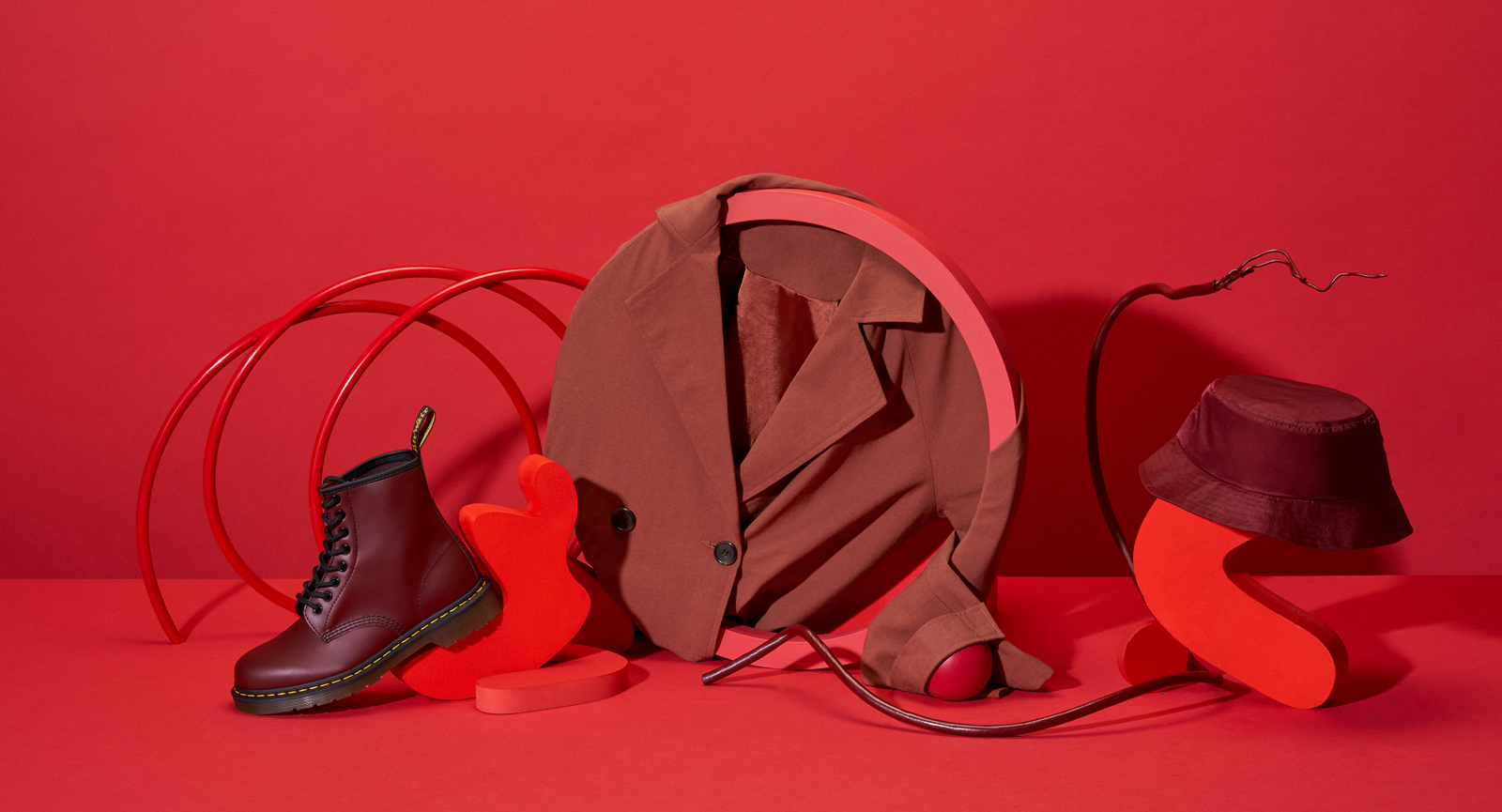 Red abstract still life photograph for Zalando's Sale Campaign