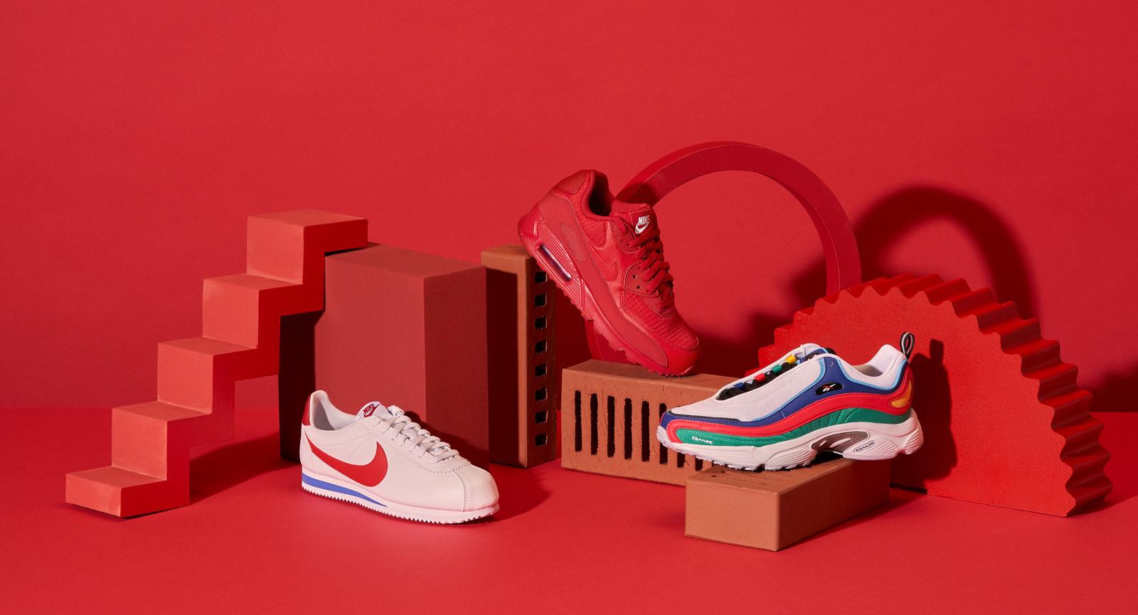 Zalando Sale campaign still life with sneakers in urban set